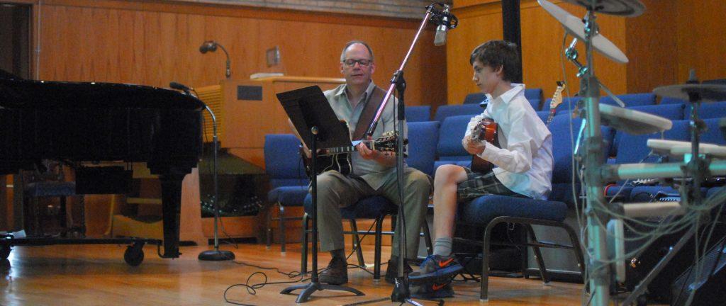 Boy Guitar and Teacher