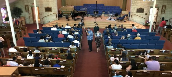 The Audience entering the River Heights School of Music June Recital