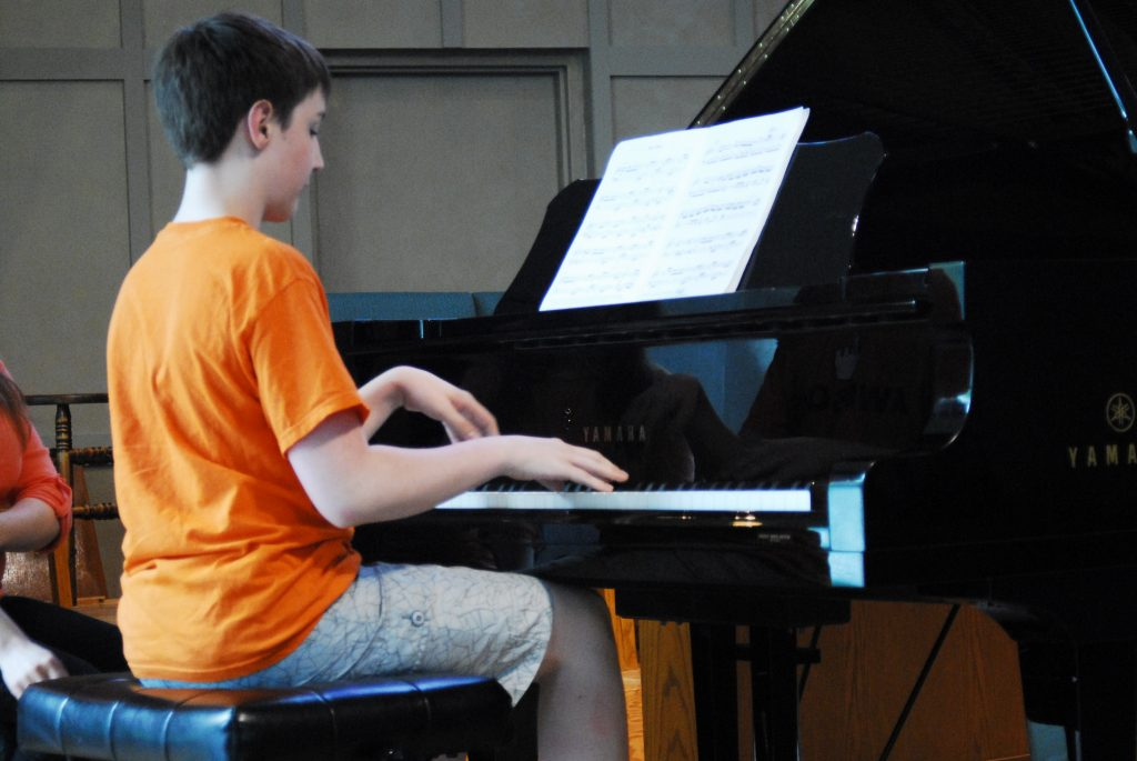 My Son Playing piano