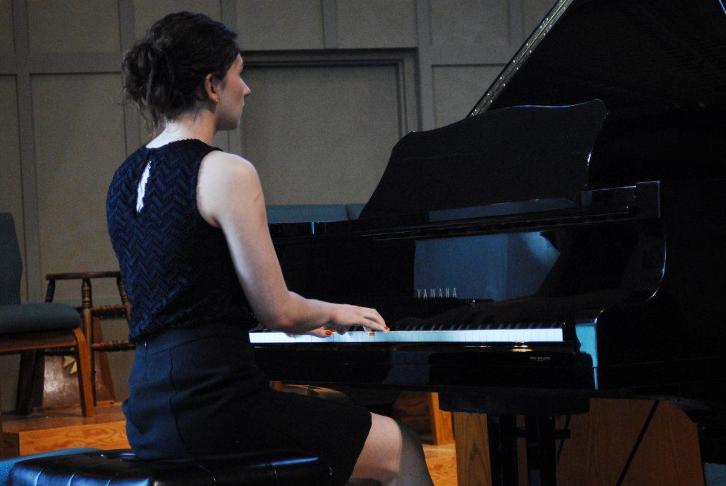 Furuture University student playing piano